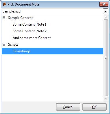 "Screenshot of the ""execute note"" dialog"